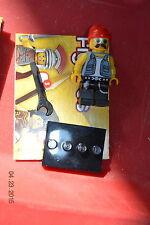 Lego Mini Figure Collectible Series 10 No 16 Motorcycle Mechanic Minifigure