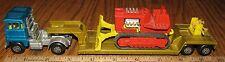 Matchbox Lesney Super Kings K-23 Low Loader Loboy Semi Truck Bulldozer Toy 1973