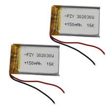3.7V 150mAh Polymer Lipo battery 302030 For GPS MP3 Sat Nav driving recorder DIY