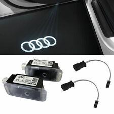Original Audi Ringe LED Einstiegsbeleuchtung Tür Logo + Adapter für viele Audi