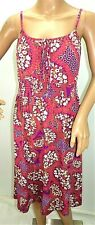 Faded Glory Women Size S 4-6 4/6 Mauve Purple Floral T Shirt Dress Short Mini