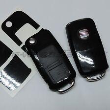 1S_Schlüssel-Dekor Aufkleber SEAT Ibiza Leon Cupra Alhambra schwarz glänzend