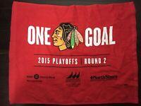 Chicago Blackhawks Rally Towel. 2015 Playoffs. Round 2.