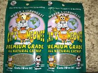 Worlds Strongest Cat's Meowee Premium Grade All Natural Cat Nip .352 Oz NEW 2 PK