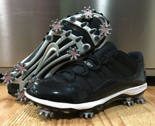 🔥Air Jordan 11 Low Custom Golf Shoes Tiger Woods TW Bred Nike Golf Size 8.5🔥
