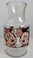 Walt Disney Company Anchor Hocking Glass Pitcher Vase Minnie Mickey Donald - USA