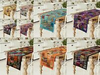 Indian Handmade Vintage Patchwork Table Runner Bohemian Wall Hanging 150cmx40cm