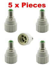 5 x E14 To GU10 Bulb Base Lamp Socket Fitting Extender Converter Adaptor Holder
