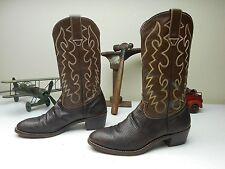 VINTAGE BROWN COUNTRY WESTERN ROCKABILLY RODEO LIZARD SKIN BOOTS SIZE 9-10D