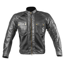 Men Wax Cotton Black Air Vent Technology Summer Motorcycle Textile CE Jacket