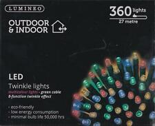 Lumineo Indoor & Outdoor LED Twinkle Christmas Lights 360 LED's 27M Multi Colour