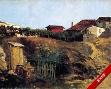 PORTICI ITALY COUNTRYSIDE PAINTING LANDSCAPE SCENE ART REAL CANVAS PRINT