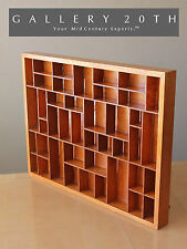 AWESOME! HUGE MID CENTURY MODERN SHADOW BOX! PINE WOOD INTERIOR DECOR VTG 1950'S