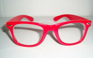 Vintage 50's Buddy Holly Nerdy Fashion Glasses - CANDY APPLE RED