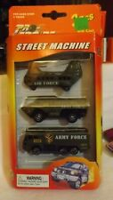 Street Machine Army Force 3 Pack Air Force Helicopter & 2 Army Trucks