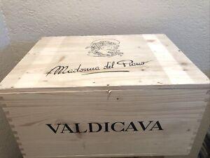 Wine Box Case Wooden Crate 6/750ml Valdicava Madonna Del Piano