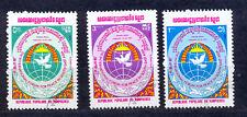 Kambodscha 557 - 559 gestempelt s. Scan Friedensforum