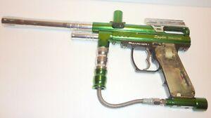 Nice Spyder IMAGINE MARKER ESP GREEN / SILVER  PAINTBALL GUN SEE PHOTOS