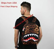A bathing ape backpack bape ayo and teo backback shark teeth book bag men women