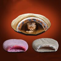 Indoor Pet Dog Cat Sleeping Bag Comfy Kennel Bed Puppy Soft Warm House Cushion