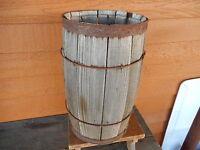 Wooden Barrel Nail Keg Antique Vintage Rustic Primitive Shabby Decor Barn Farm