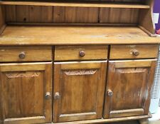 Farmhouse Kitchen Pine Welsh Dresser Shabby Chic display cabinet shop display