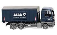 "#067204 - Wiking Abrollcontainer (Meiller/MAN TGX Euro 6) ""Alba"" - 1:87"