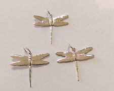 Sterling Silver Dragon Fly Pendants/Charms: 3 Pieces