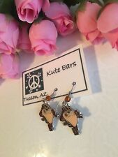 Silvertone Standing TAZ Tasmanian Devil Looney Tunes Dangle Earrings