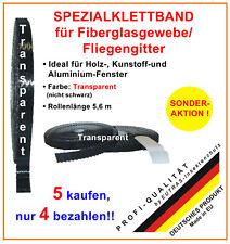 EUTRAS Spezial - Klettband für Fiberglasgewebe TRANSPARENT  (Sparpaket 5 für 4)