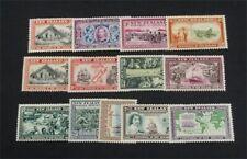 nystamps British New Zealand Stamp # 229-241 Mint OG H $57   A9y2634