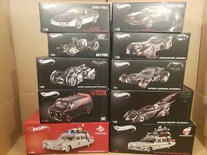Hot wheels elite 1:18 (box/foam Lot-Ghostbusters- Batman-Knight Rider-A Team