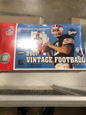 2001 UPPER DECK VINTAGE NFL FOOTBALL FACTORY SEALED HOBBY BOX - 24 10 CARD PACKS
