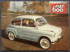 FIAT 600 SALOON CONVERTIBLE MULTIPLA Sales Brochure 1959 #1419