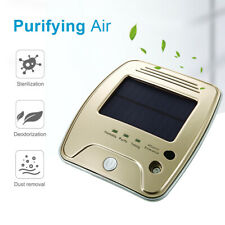 Portable Solar Car Home Air Purifier Cleaner With Heap Filter Vehicle Charging