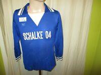 "FC Schalke 04 Original erima Langarm Heim Trikot 1977/78 ""SCHALKE 04"" Gr.S"
