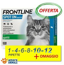 Frontline Spot On Gatto 1 / 4 / 6 / 8 / 10 / 12 pipette - Antiparassitario gatti