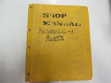 Komatsu PC300LC-5 Hydraulic Excavator Parts Book Manual BINDER STAINED OEM DEAL