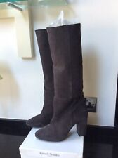 Russell And Bromley Roxy Grey Suede Pull On Boots Size 6 Or 39