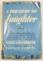 A Treasury Of Laughter Vintage Book 1946 Louis Untermeyer With Dust Jacket (O)