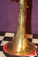 😎Gorgeous 🎺1945 William Frank Bb Cornet, Raw Brass, Original Case
