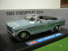 CHEVROLET NOVA cabriolet 1963 ble 1/18 SUNSTAR 3972 voiture miniature collection