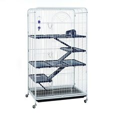 Large Tall Rat Ferret Chinchilla Cage On Wheels With Accessories -Blenheim 140cm