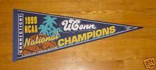 1999 UConn Huskies pennant NCAA Champs Connecticut Rip Hamilton Jim Calhoun