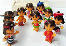 9PCS Dora the Explorer Country Style Collection Mini Figures Cute Kid's gift AA*