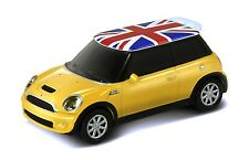 1:68 Die Cast Metal UK Flag Mini Cooper S USB Flash Drive 8GB (Yellow)