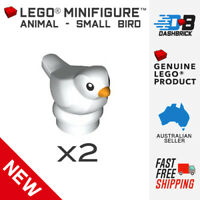 2 x Genuine LEGO® Minifigure Animals - Bird, Dove, White Pigeon - NEW