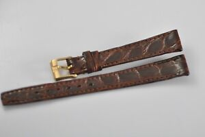 13mm Omega Vintage Band Strap Brown with Gold Plated Buckle NOS Mint W33