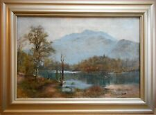 Loch Katrine. Original Oil by listed Scottish artist John H Oswald 1873