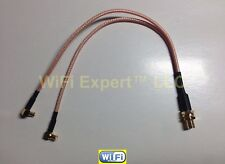 """8"""" SMA Female to 2X MCX L male RF coaxial cable Y type splitter pigtail RG316 US"""